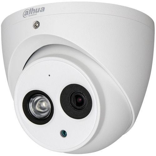 Camera Supraveghere Analogica Dahua HAC-HDW1220EM-A, HD-CVI/CVBS, Dome, 2MP, 3.6mm, EXIR 1 LED Array, IR 50m, Microfon, D-WDR, Rating IP67, Carcasa aluminiu