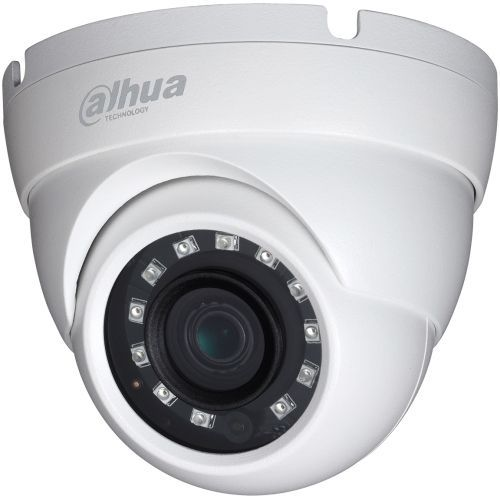 Camera de supraveghere Dahua HAC-HDW2221M, HD-CVI/CVBS, Dome, 2MP, 3.6mm, 12 LED, IR 30m, WDR 120dB, Rating IP67, Carcasa aluminiu