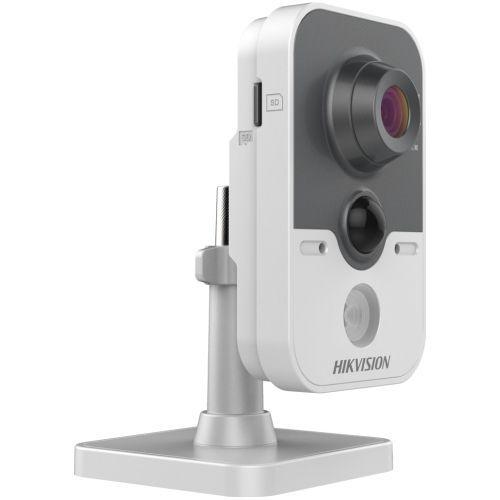 Camera de supraveghere Hikvision DS-2CD2412F-I, IP, Cube, 1.3MP, 2.8mm, 1 LED, IR 10m, D-WDR, H.264, PoE .3af, Alarm I/O, PIR 10m, Motion Detection