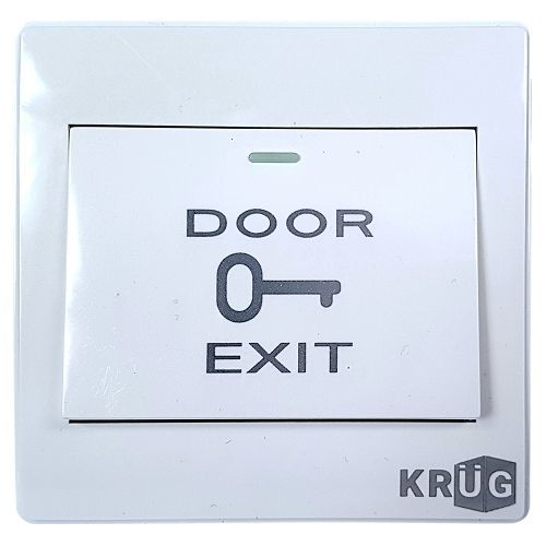 Accesoriu control acces KrugTechnik Buton iesire KPBM6, Plastic, Cutie montaj inclusa