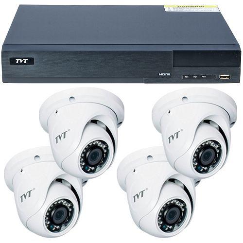 Sistem supraveghere analogic TVT TD-2704TS-CL, 4 x TD-7514ASL, AHD 720p, Dome, 2.8mm