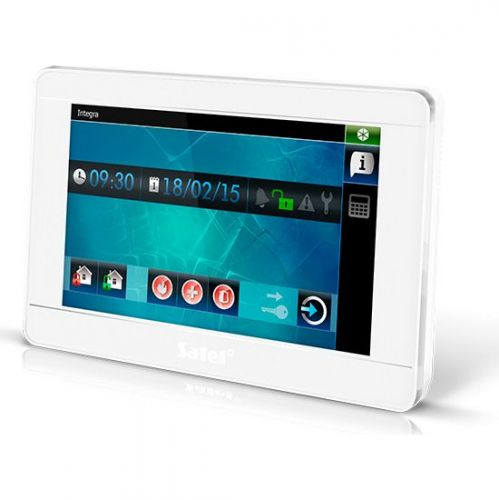 Tastatura alarma Satel INT-TSI-WSW, Touchscreen 7 inch, Compatibila INTEGRA/VERSA, Alb