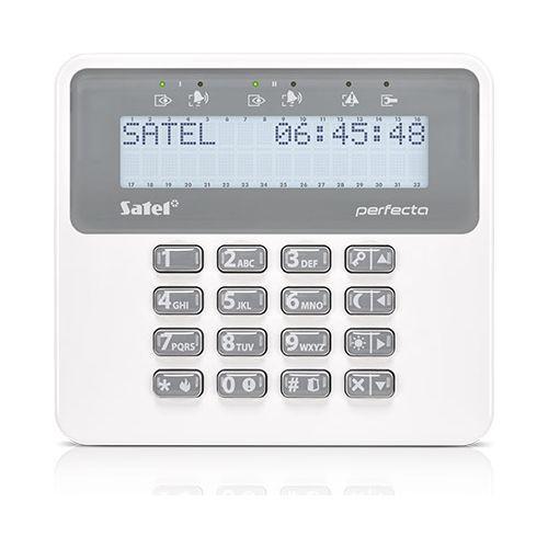 Tastatura alarma Satel PRF-LCD-WRL, Afisaj LCD, Wireless, Compatibila PERFECTA