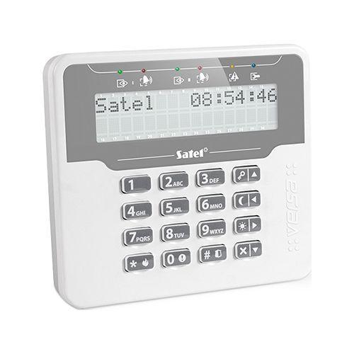 Tastatura alarma Satel VERSA-LCDM-WH, Afisaj LCD, Compatibila VERSA