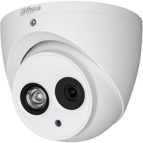 Camera Analogica Dahua HAC-HDW1100EM-A, HD-CVI, Dome, 1MP 720p, 2.8mm, EXIR 1 LED Array, IR 50m, Microfon, Rating IP67, Carcasa aluminiu