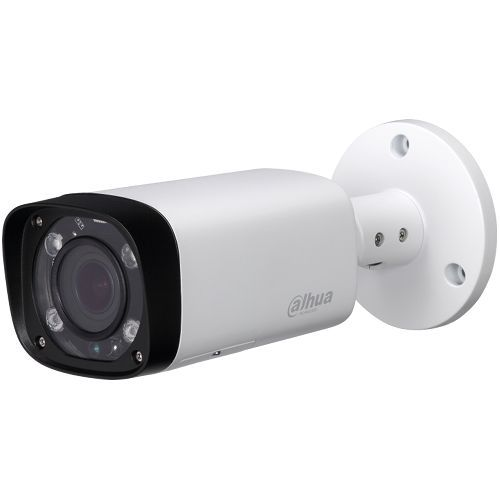 Camera Analogica Dahua HAC-HFW1400R-VF-IRE6, HD-CVI, Bullet, 4MP 1440p, 2.7-13.5mm, 4 LED, IR 60m, IP67, Carcasa aluminiu