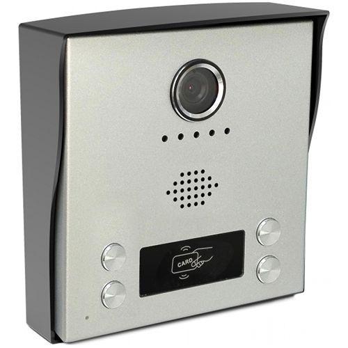 Post exterior videointerfon KrugTechnik KR-H4, 4 butoane, 2 fire