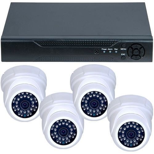 Sistem supraveghere analogic U.Smart D1-304V3.P, AHD, HD 720p, 4 camere Dome RLG-D1FM3, Interior