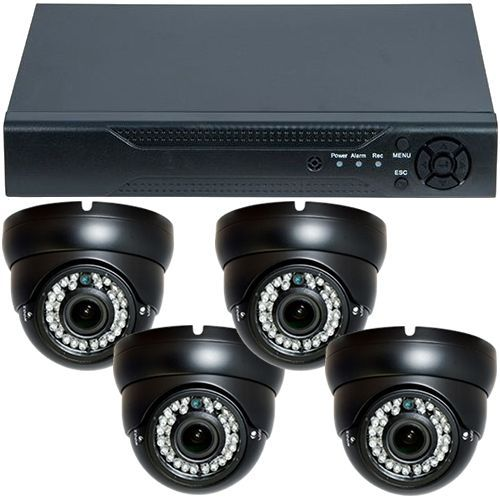 Sistem supraveghere analogic U.Smart D1-304V3.P, AHD, HD 720p, 4 camere Dome Varifocale RLG-D1VM, Interior