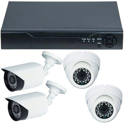 Sistem supraveghere analogic U.Smart D1-304V3.P, AHD, HD 720p + 4 Camere mixte RLG-B1FM si RLG-D1FM2, Exterior/Interior
