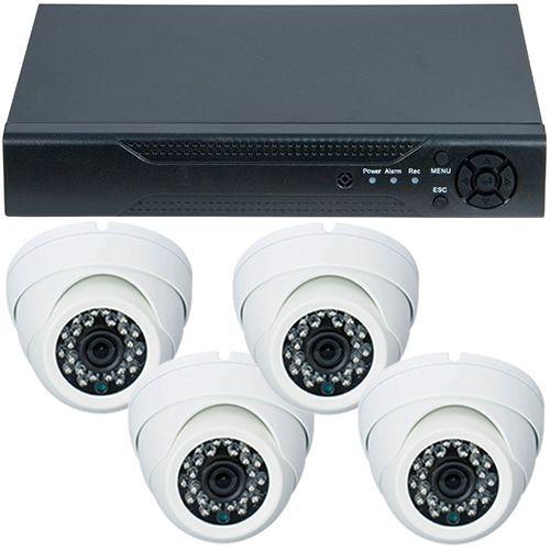 Sistem supraveghere analogic U.Smart D1-304V3.P, AHD, HD 720p, 4 camere Dome RLG-D1FM2, Interior