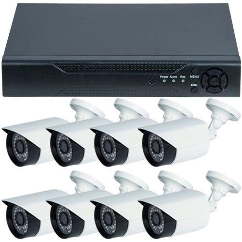 Sistem supraveghere analogic U.Smart D1-308V3.P, AHD, HD 720p + 8 Camere Bullet RLG-B1FM, Exterior
