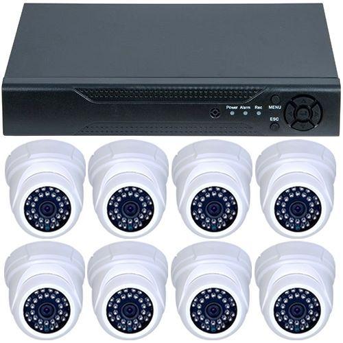 Sistem supraveghere analogic U.Smart D1-308V3.P, AHD, HD 720p, 8 camere Dome RLG-D1FM3, Interior