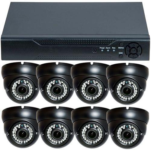 Sistem supraveghere analogic U.Smart D1-308V3.P, AHD, HD 720p, 8 camere Dome Varifocale RLG-D1VM, Interior