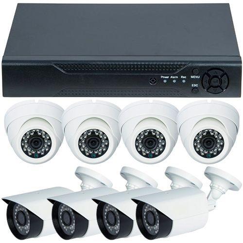 Sistem supraveghere analogic U.Smart D1-308V3.P, AHD, HD 720p + 8 Camere mixte RLG-B1FM si RLG-D1FM2, Exterior/Interior