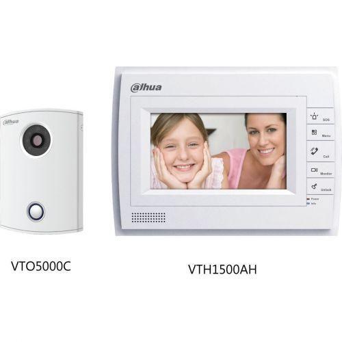 Kit Videointerfon Dahua VTKB-VTO5000C-VTH1500AH, Analog, Post exterior VTO5000C + Monitor VTH1500AH