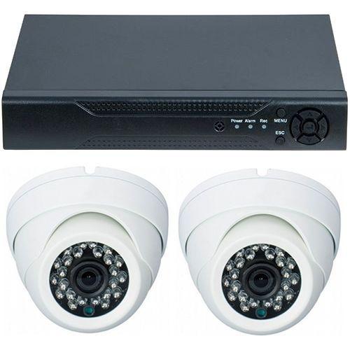 Sistem supraveghere analogic D1-304V3.P, AHD, HD 720p, 2 camere Dome RLG-D1FM2, Interior
