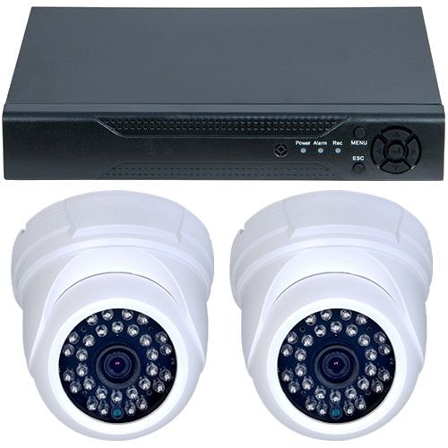 Sistem supraveghere analogic D1-304V3.P, AHD, HD 720p, 2 camere Dome RLG-D1FM3, Interior
