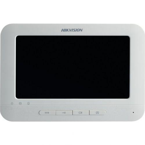 Monitor videointerfon DS-KH6210-L, Ecran LCD 7 inch, Retea, Alb