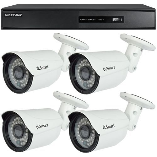 Sistem supraveghere analogic DS-7204HGHI-SH, TVI, HD 720p, 4 camere Bullet U.Smart UB-503