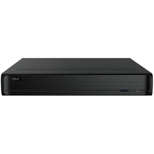 NVR TVT TD-3332H4-16P, H.265 4K, 32 canale, Max. 8MP, 1080P@25fps, 4 x SATA, 16 x PoE