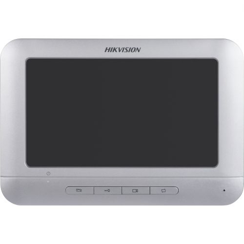 Monitor videointerfon Hikvision DS-KH2220, LCD 7 inch, Rezolutie 800x480, 4 butoane fizice, Gri