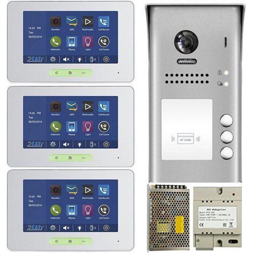 Kit Videointerfon V-tech DT37S3, doua fire,  pentru trei familii