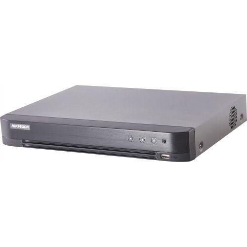 DVR Camera Supraveghere Hikvision DS-7204HQHI-K1, TVI/AHD/CVI/CVBS, Max. 3MP, H.265+, 4 canale + 1 IP