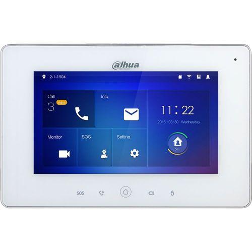 Monitor videointerfon Dahua VTH5221DW, LCD 7 inch, Rezolutie 1024x600, Slot SD, Wi-Fi, PoE