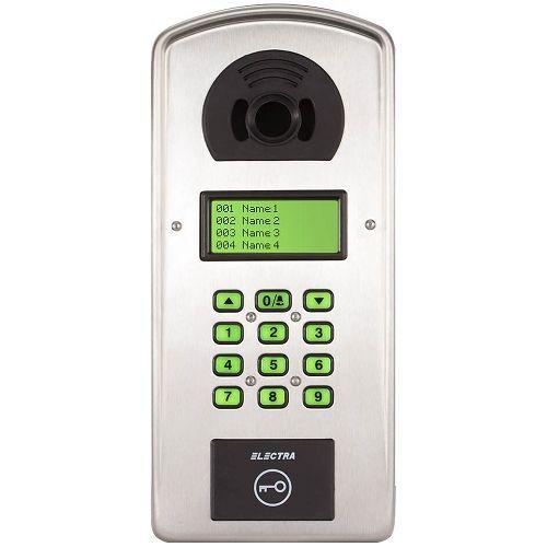 Interfon de bloc Electra Pass Digital P4S.A91I, Cititor RFID, Inox