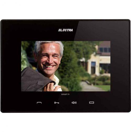 Monitor videointerfon Electra Touch Line Smart+, Ecran LCD 7'', 4 fire, Negru