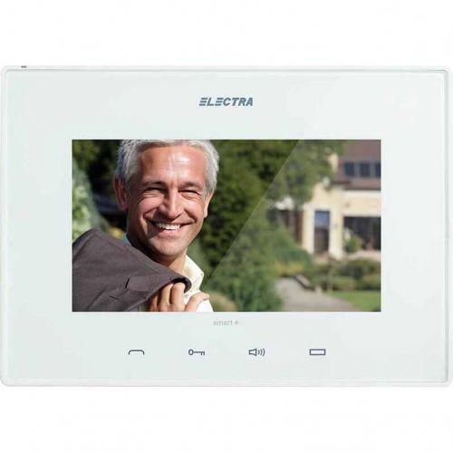 Monitor videointerfon Electra Touch Line Smart+, Ecran LCD 7'', 4 fire, Alb