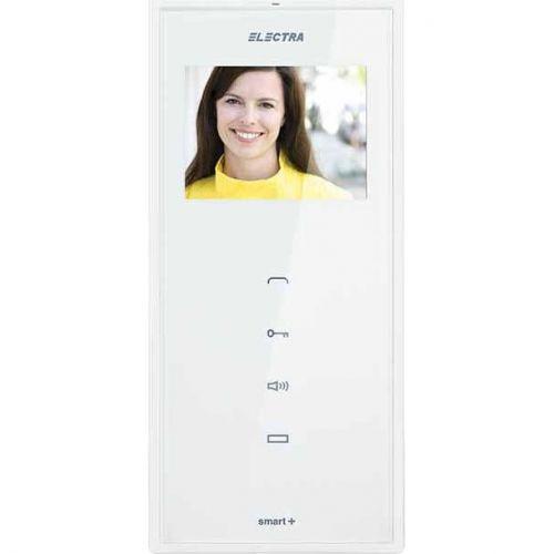Monitor videointerfon Electra Touch Line Smart+, Ecran LCD 3.5'', 4 fire, Alb