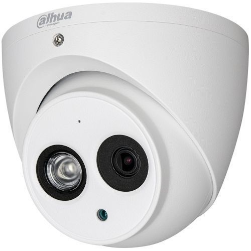 Camera de supraveghere Dahua HAC-HDW1200EMP-A, HD-CVI, Dome, 2MP 1080p, CMOS 1/2.7'', 2.8mm, 1 LED Array, IR 50m, IP67, Microfon, Carcasa metal