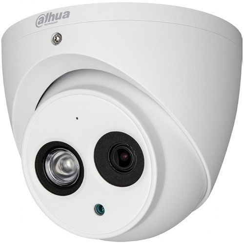 Camera Analogica Dahua HAC-HDW1100EM-A-S3, HD-CVI, Dome, 1MP 720p, CMOS 1/3'', 2.8mm, 1 LED Array, IR 50m, IP67, Microfon, Carcasa metal