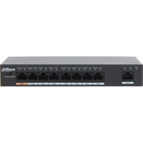 Switch Dahua PFS3009-8ET-96, PoE, 8+1 porturi, 250m, 30W, Max. 96W