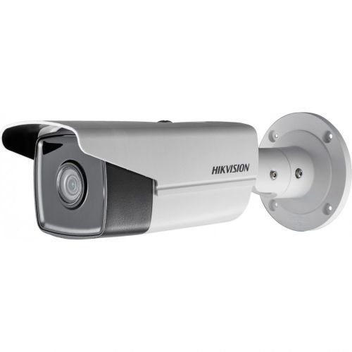 Camera IP Hikvision DS-2CD2T45FWD-I8, Bullet, 4MP, 4mm, EXIR, IR 80m, IP67, WDR 120dB, H.265+, Card MicroSD, Carcasa metal, Darkfighter