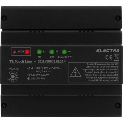 Accesoriu interfonie Electra Unitate centrala de alimentare video, SCU 4 fire cu 1 iesire