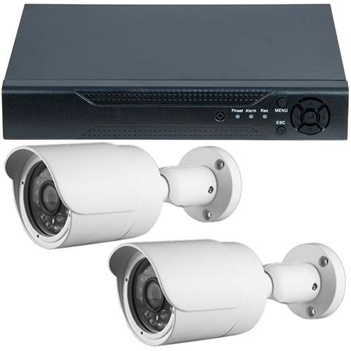 Sistem supraveghere analogic Guard View DVR GHD-1041TLMV3.P + 2 camere bullet exterior 2MP