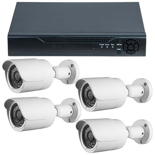 Sistem supraveghere analogic Guard View DVR GHD-1041TLMV3.P + 4 camere bullet exterior 2MP