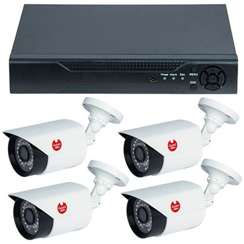 Sistem supraveghere analogic Guard View DVR GVAHD4-5MPV4P + 4 camere bullet exterior 4MP