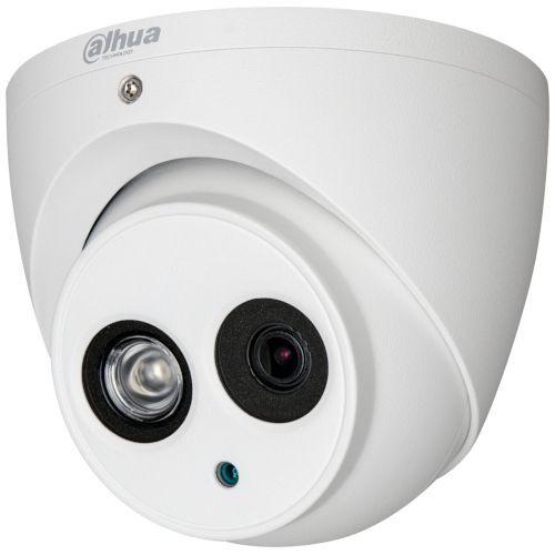Camera de supraveghere Dahua HAC-HDW1200EM-POC, HD-CVI, Dome, 2MP 1080p, CMOS 1/2.7'', 2.8mm, 1 LED Array, IR 50m, IP67, PoC, Carcasa metal