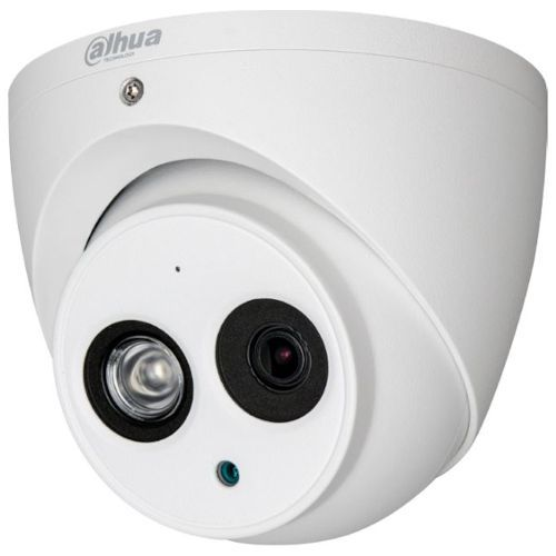 Camera de supraveghere Dahua HAC-HDW1400EM-A, HD-CVI, Dome, 4MP, CMOS 1/3'', 2.8mm, 1 LED Array, IR 50m, IP67, Microfon, Carcasa metal