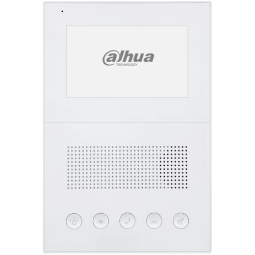 Post interior audio Dahua IP VTH2201DW, 5 butoane, Intercom, Alarma