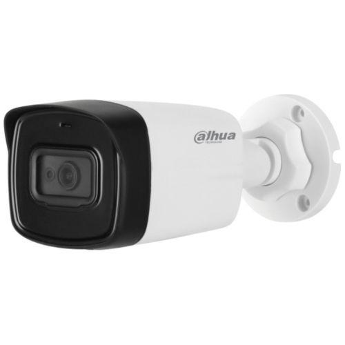 Camera de supraveghere Dahua HAC-HFW1500TL-A, HD-CVI, Bullet, 5MP, CMOS 1/2.7'', 3.6mm, 2 LED, IR 80m, IP67, Microfon, Carcasa metal+plastic