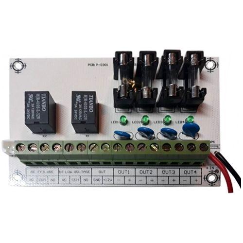 Accesoriu supraveghere PXW Modul extensie sursa AQT, Releu alarma semnal NO/NC cu 4 iesiri