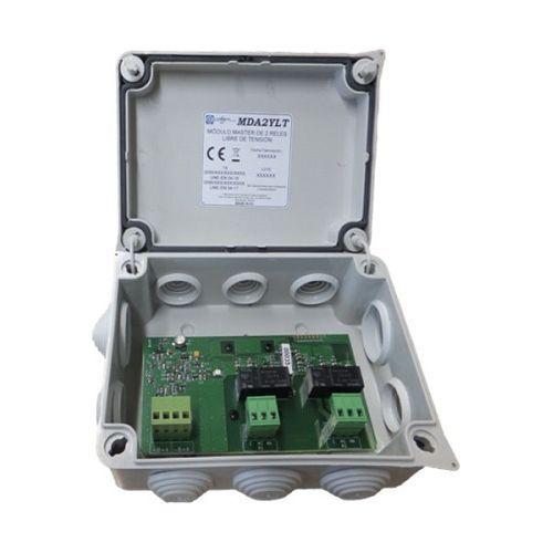 Accesoriu detectie incendiu Cofem MDA2YLT, Modul adresabil, alimentat din bucla (cu izolator scurtcircuit), 2 relee de iesire
