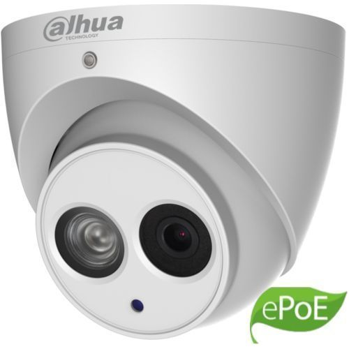 Camera de supraveghere Dahua IPC-HDW4431EM-ASE-0280B, Dome Eyeball IP 4MP, CMOS1/3, H.265+, 25/30fps@4M. 2.8mm, IR 50m, WDR 120dB, Built-in Mic, MicroSD128GB, IP67, ePoE, Carcasa metal