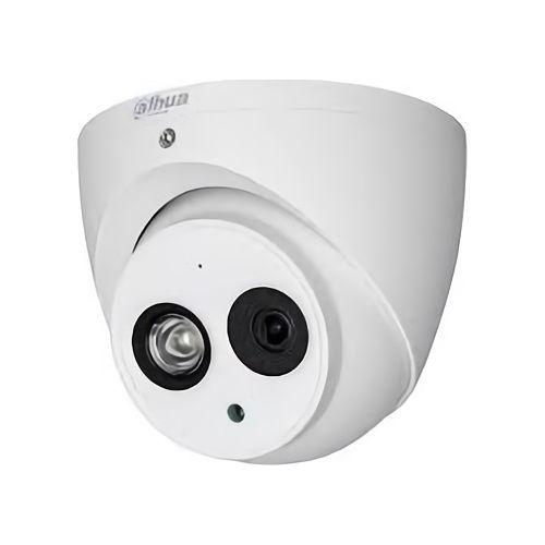 Camera de supraveghere Dahua HAC-HDW1801EM-A-0360B, Dome Eyeball HDCVI 8MP, 1/2.7 CMOS, 4K@15fps, 5M@20fps; 4M@25fps/30fps, CVI/CVBS/AHD/TVI, 3.6mm, IR 50m, Smart IR, OSD, 120dB True WDR, 3DNR, Built-in Mic, IP67
