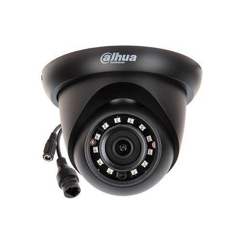 Camera de supraveghere Dahua IPC-HDW1431S-0280B-BLACK, IP Dome 4MP, CMOS 1/3'', H.265+, 2.8mm, IR30m, IP67, PoE, neagra